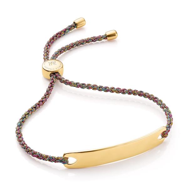 GP-BM-HAVB-RAI Havana Friendship Bracelet in 18ct Yellow Gold Vermeil with Metallica Rainbow Cord $200