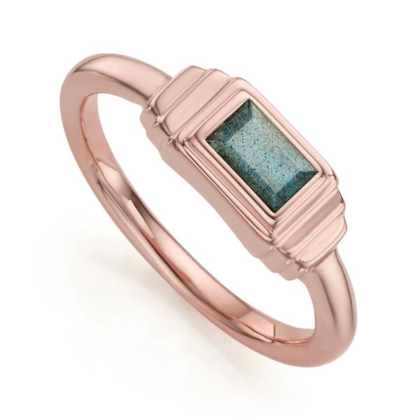 RP_RG_ICRS _LAB Baja Deco Ring in Rose Gold Vermeil with Labradorite $200