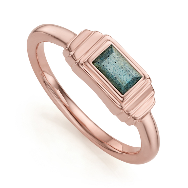 RP_RG_ICRS _LAB Baja Deco Ring in Rose Gold Vermeil with Labradorite $200